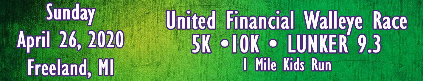 Freeland Walleye Festival 2020.Walleye Festival Race United Financial Credit Union